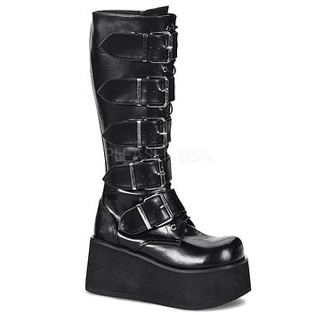 Trashville 518  Gothic Style Platform Mid Calf Boot Men's Sizes