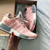 Best Online Sale Adidas NMD R1 Vapour Pink BY3059 Boost Sport Running Shoes Classic Casual Shoes Sneakers