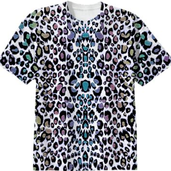 Sparkling Rainbow Fantasy Leopard Print Tee created by UROCKDesign | Print All Over Me