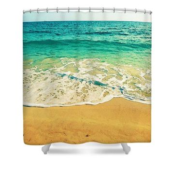 Stay Salty Watercolor Art By Adam Asar - Asar Studios - Shower Curtain
