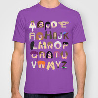 Harry Potter Alphabet T-shirt by Mike Boon | Society6