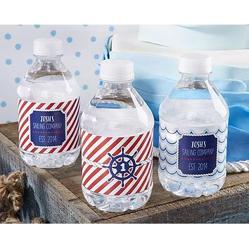 Personalized Water Bottle Labels - Kate's Nautical Birthday Collection