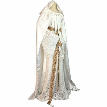 Lord of the Rings The Hobbit Lady Galadriel Cosplay Costume