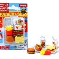 Iwako Japanese Eraser Set - Fast Food Assortment