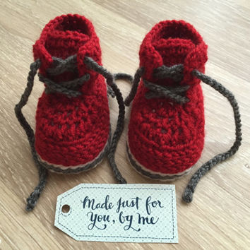 Crochet Baby Boy Chase Boot - Baby Shower Gift