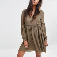 Glamorous Tea Dress With Wide Sleeves And Ladder Inserts at asos.com