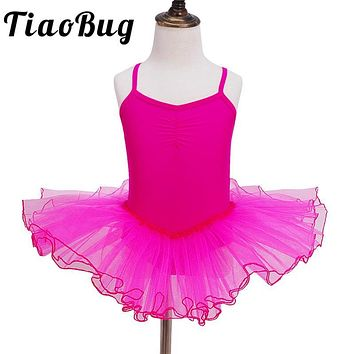 2017 Party Fancy Costume Cosplay Girls Ballet Tutu Dress Dance Leotard Dress Princess Flower Girls Dress Performance Dancewear