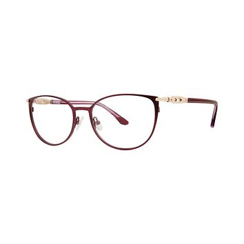 Dana Buchman - Marigold 54mm Boysenberry Eyeglasses / Demo Lenses