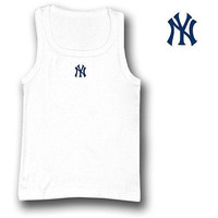 New York Yankees MLB Debut Tank Top Shirt For Women (White) (Large)
