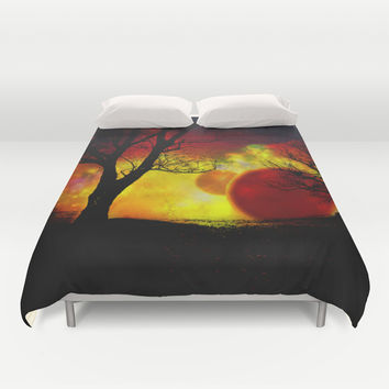 red planet Duvet Cover by Haroulita