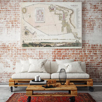 Antique Map of Pompeii| Pompei Old Map| Naples| Roman Cities| Campania Region| Ancient Roman Town| Italy Old Map| Vintage Wall Map| AMC253