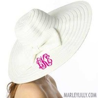 Monogrammed Derby Hat | Custom Preppy Floppy Hat | Marley Lilly