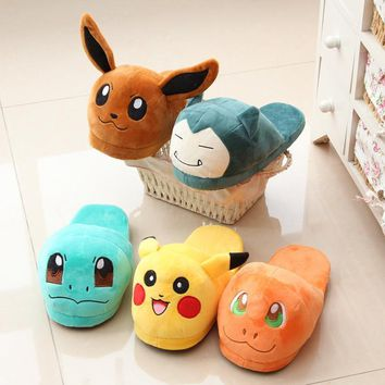 Shoes Woman Anime Cartoon Pokemon Slippers Elf Ball Pikachu Eevee Umbreon Pokemon Plus