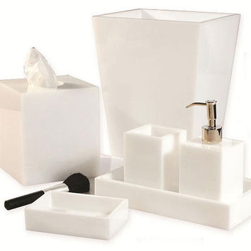 mike ally white ice bath furnishings - Bathroom Accessories Vanity Tray