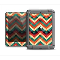 The Abstract Fall Colored Chevron Pattern Apple iPad Mini LifeProof Nuud Case Skin Set