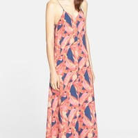 Women's AYR 'The Only' Floral Print Stretch Silk Maxi Dress,