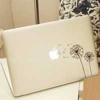 Dandelion-Decal macbook-laptop Decal  macbook sticker macbook pro decal macbook air sticker