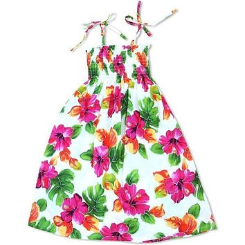 hoopla white hawaiian girl sunkiss dress