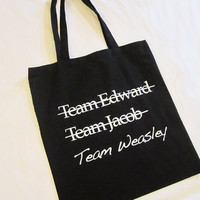 TEAM WEASLEY Tote Bag AntiTwilight Harry Potter by MockTheRock