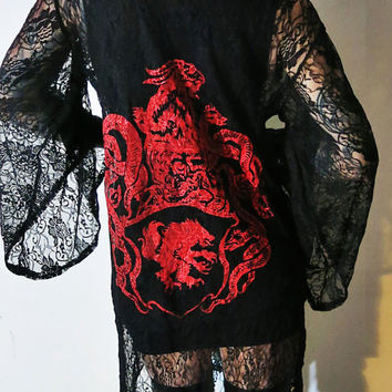 Satanic Warmaster Crest Lace Robe