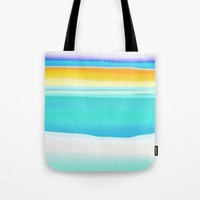 The Arctic Sea Abstract 2 Tote Bag by Jen Warmuth Art And Design