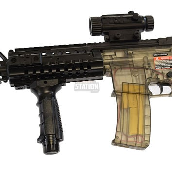 Colt M4 Full Auto Electric Smoke Clear Airsoft Gun Kit