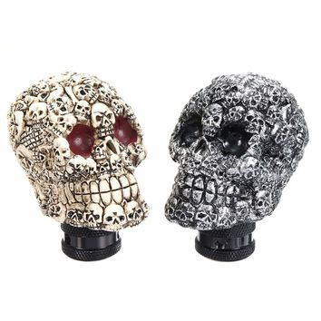 Universal Car  Gear Shift Knob Skull Head Faces Manual Transmission Gear Shift Knob Shifter Lever