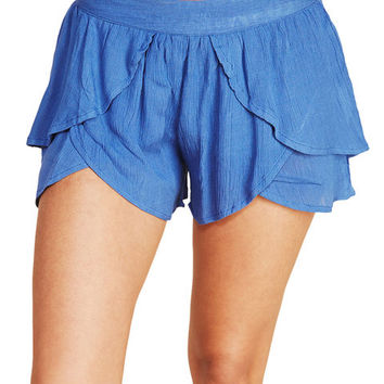 Gauzy Layered Tulip Shorts | Wet Seal