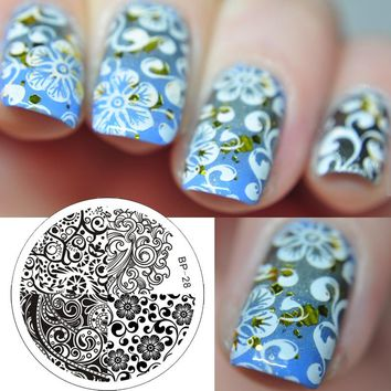 Mixed Abstract Patterns Nail Art Stamp Template Image Plate BORN PRETTY BP28 Nail Stamping Plates