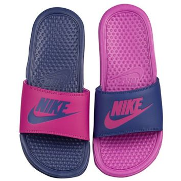 Nike Benassi JDI Mismatch Slide - Women's at Lady Foot Locker