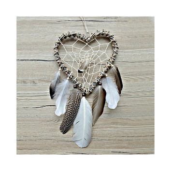 Dreamcatcher, Boho Dream Catcher, Natural Dreamcatcher, Boho Wall Decor, Boho Home Decor, Branch Dreamcatcher, Heart, Love, Nursery Decor