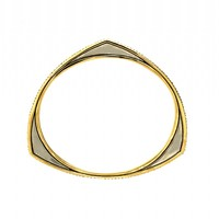 House of Harlow 1960 Jewelry Modern Tribal Pave Bangle