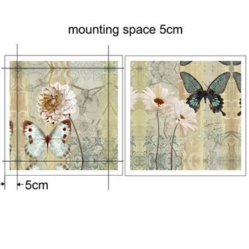 2 Piece Canvas Art Butterfly Picture,Paintings On The Wall Art Canvas Painting Poster,Wall Pictures For Living Room,Home Decor