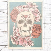 Floral Skull Wooden Wall Art - Urban Outfitters