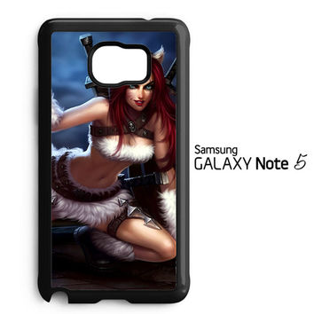 League Of Legends Kitty Kat Katarina Z0611 Samsung Galaxy Note 5 Case