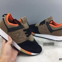 DCCKGQ8 cxon new balance nb247 mid high brown orange for women men running sport casual shoes sneakers