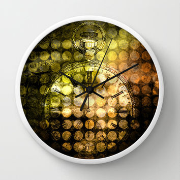 MELANGE WITH A CLOCK Wall Clock by Pia Schneider [atelier COLOUR-VISION] #wallclock #clock #home #walldecor #art #steampunk #vintage #time
