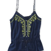 Neon Embroidered Cami
