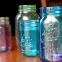 How to Tint Mason Jars - So Simple the Kids Did It