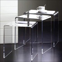 Clear Acrylic Nesting Tables (Set of 3)