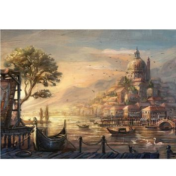 YANXIN DIY Framed Painting By Numbers Oil Paint Photo Wall Art Digital Pictures Painting Decor For Home Decoration Gifts E168