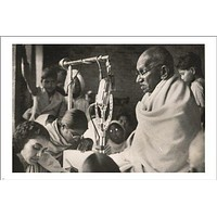 ghandi FASTS FOR PEACE political SPIRITUAL inspirational poster 1948 24X36