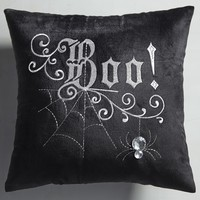 Boo Black & Silver Mini Pillow