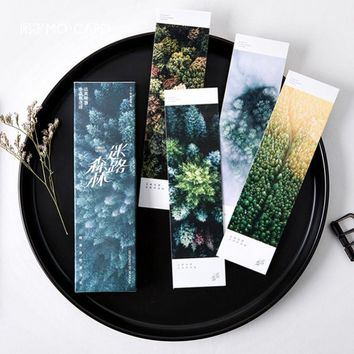30 pcs/box Natural Cure Style Lost Woods Bookmark Book Holder Message Card Creative Stationery School Supplies Papelaria