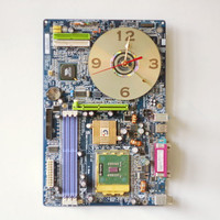 Wall clock made from a recycled Computer circuit board ready to ship c6235