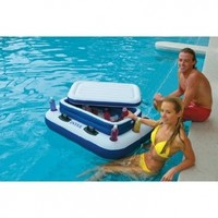 "Intex Mega Chill II Inflatable Floating Cooler, 48"" X 38"""