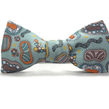 Microorganisms bowtie, science bowtie, microbiology bowtie, biology bowtie, accessory, cilia, bacteria bowtie, teacher gift, germs