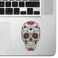Ornamental Sugar Skull MacBook Sticker Pro Air Decal Keyboard Sticker Laptop 15""