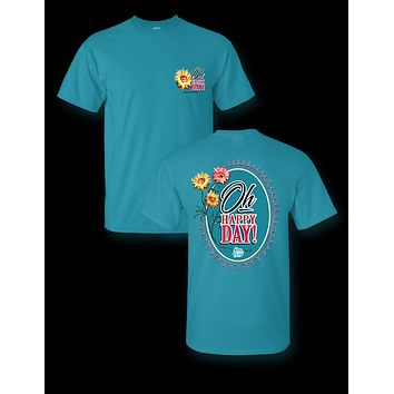 Sassy Frass Oh Happy Day Flowers Girlie T Shirt