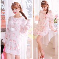 Sweetie Rose Thickening Sweater Dress Free Ship SP141339